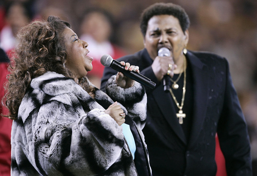 Aretha Franklin and Aaron Neville