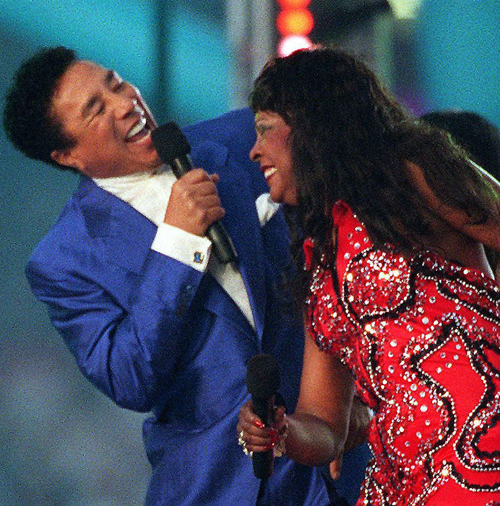 Smokey Robinson and Martha Reeves
