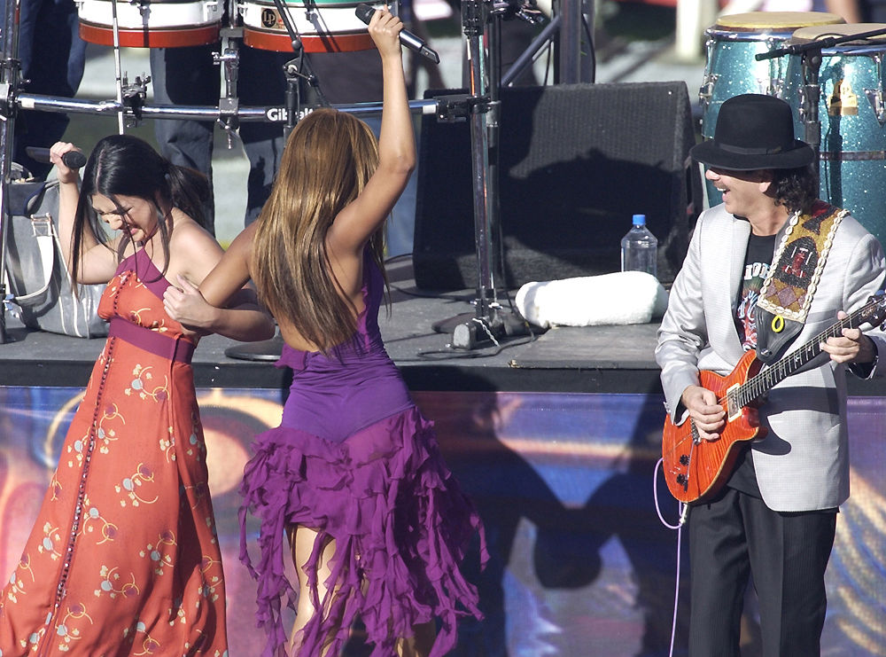 Michelle Branch, Beyonce and Carlos Santana