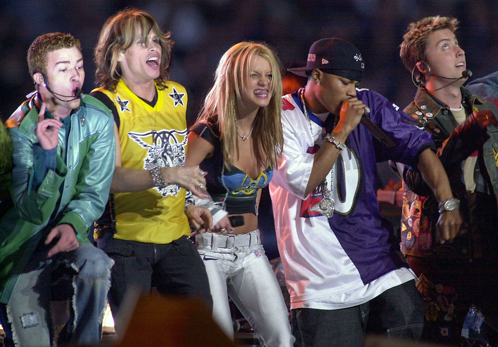 Justin Timberlake, Steven Tyler, Britney Spears, Nelly and Lance Bass