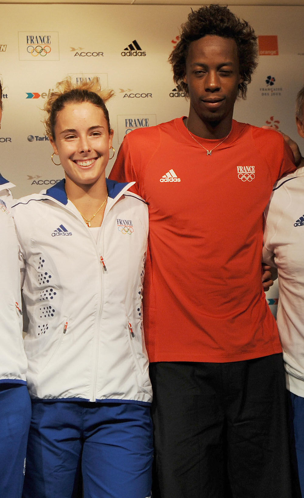 Alize Cornet and Gael Monfils