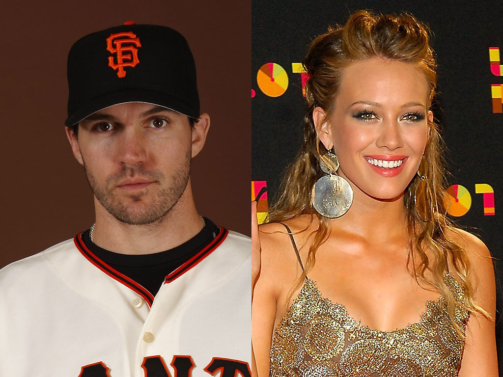 Barry Zito and Hillary Duff