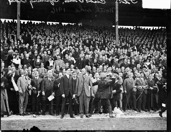 Fans in the stands