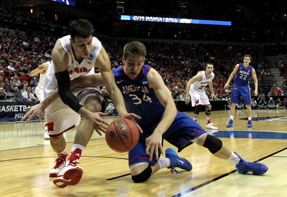 Second Round: (2) Wisconsin 75, (15) American 35