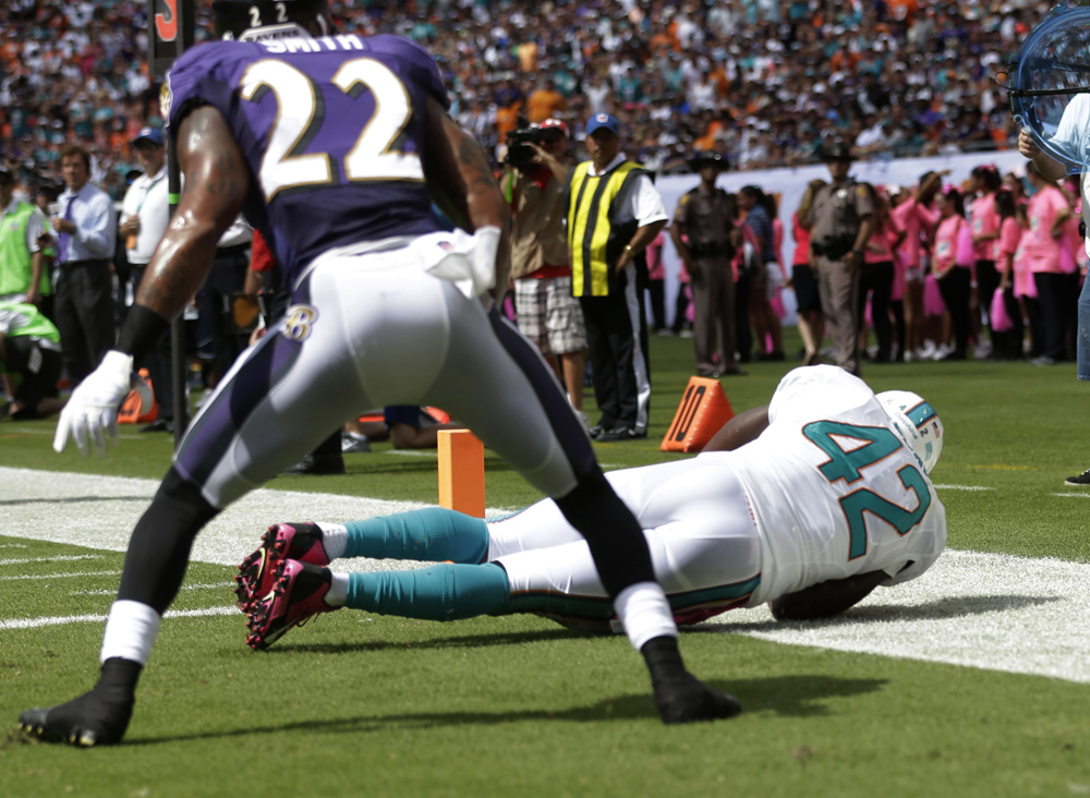 Ravens 26, Dolphins 23