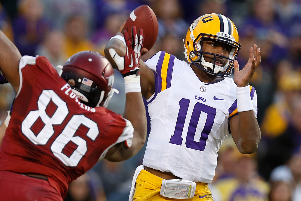 (15) LSU 31, Arkansas 27
