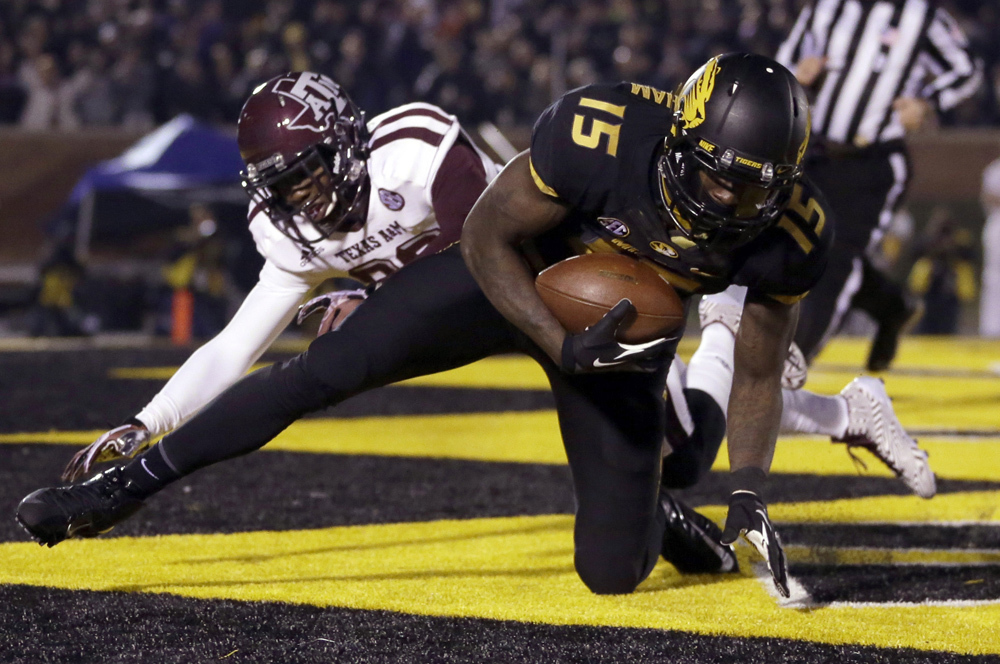 (5) Missouri 28, (19) Texas A&M 21