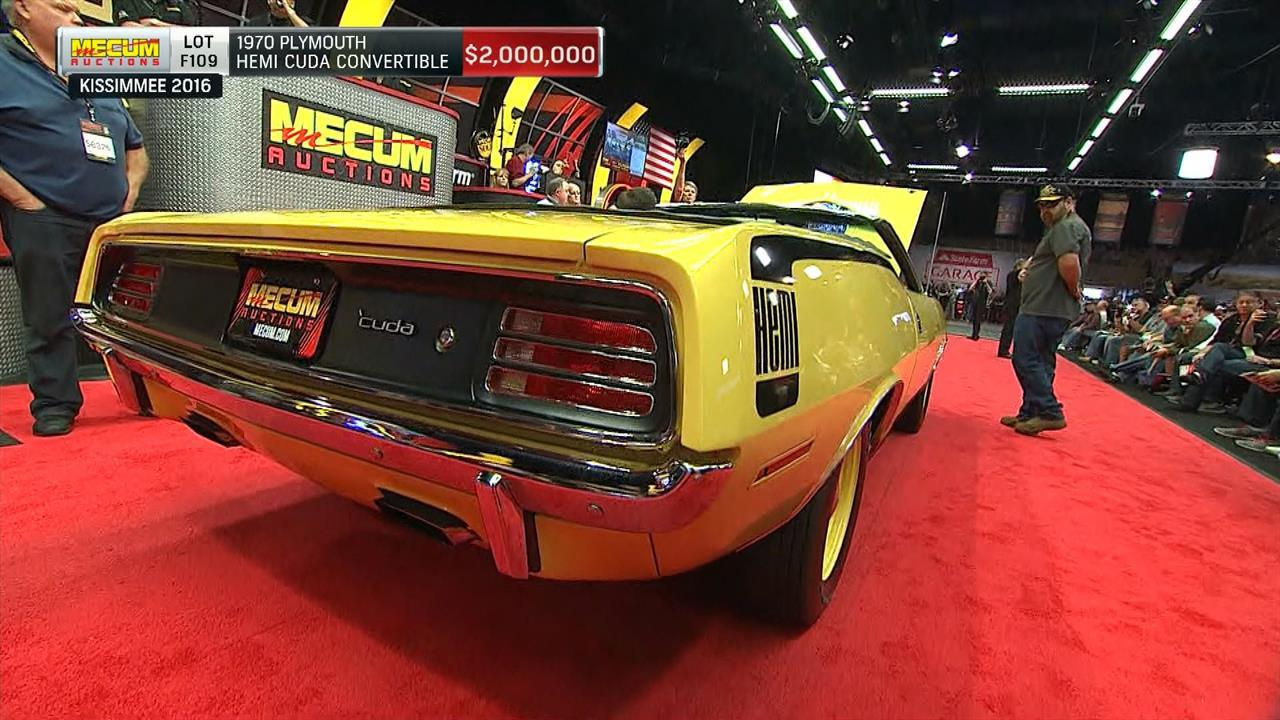 1970 Plymouth Hemi Cuda convertible sells for over $2