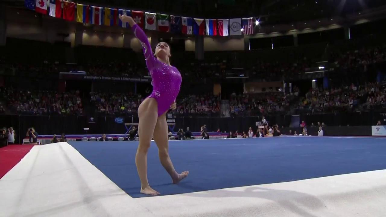 favorite laurie hernandez impresses with her floor routine nbc sports