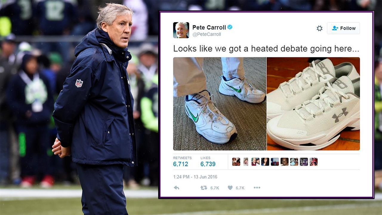 Mad Dash: Pete Carroll roasts Steph Curry\'s shoes; Cam Newton\'s UGG ...
