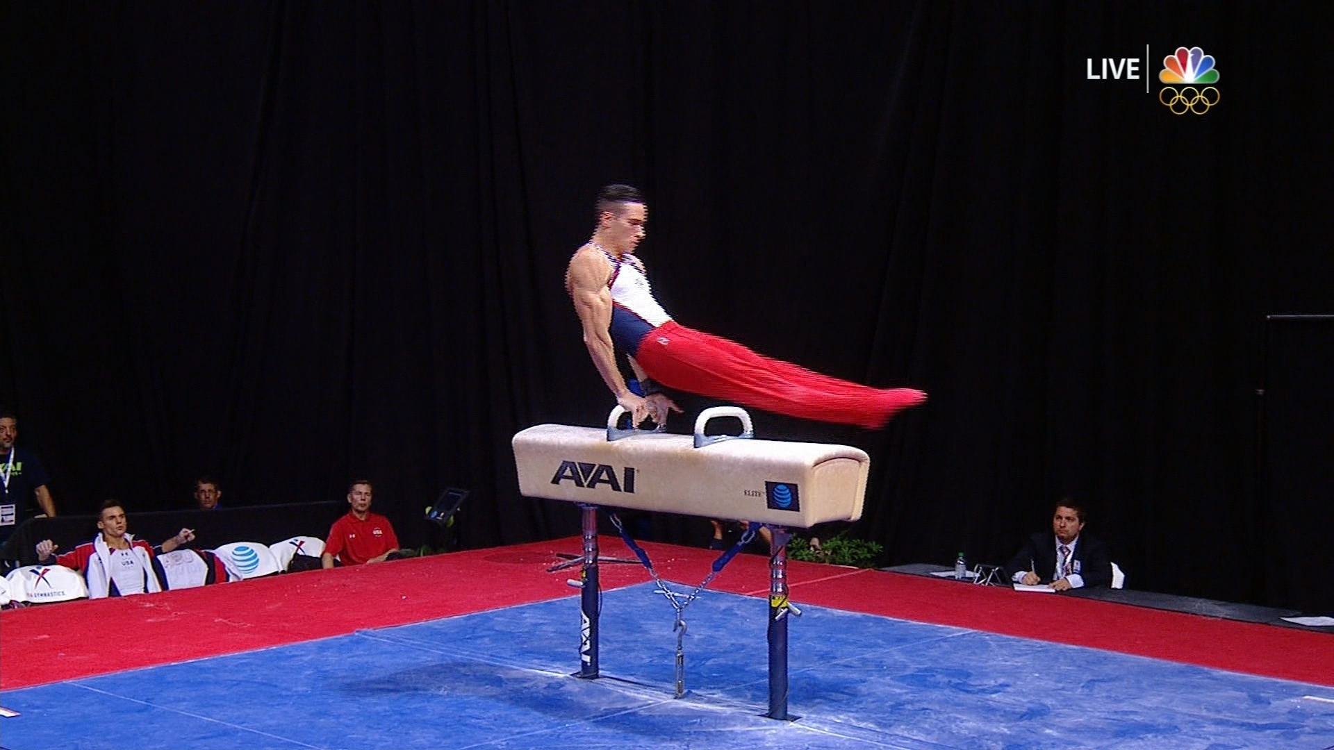olympic trials naddour hits tricky pommel horse routine nbc sports