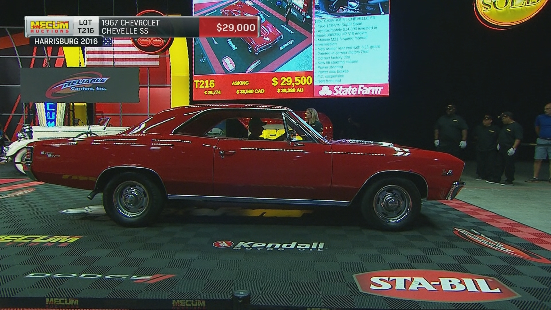 1967 Chevrolet Chevelle Ss Sells For 28 500 At Mecum Auctions Nbc