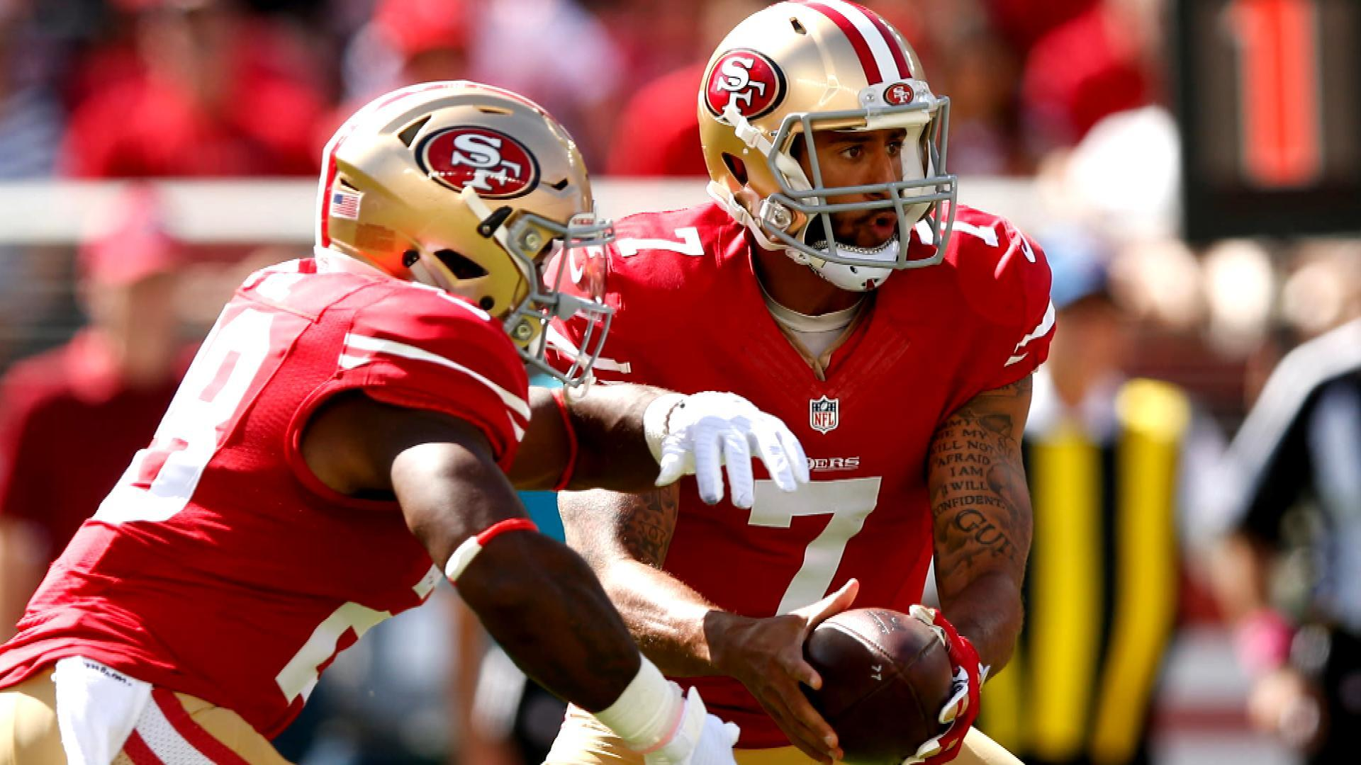 79908f76e 49ers  Kyle Shanahan says Colin Kaepernick just doesn t fit his system