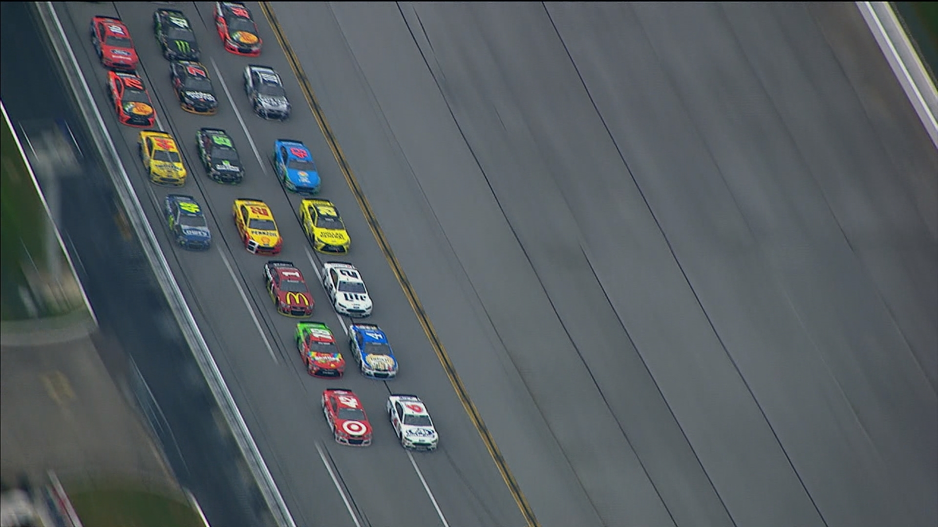 How fast could cars go at Talladega without restrictor plates?   NBC