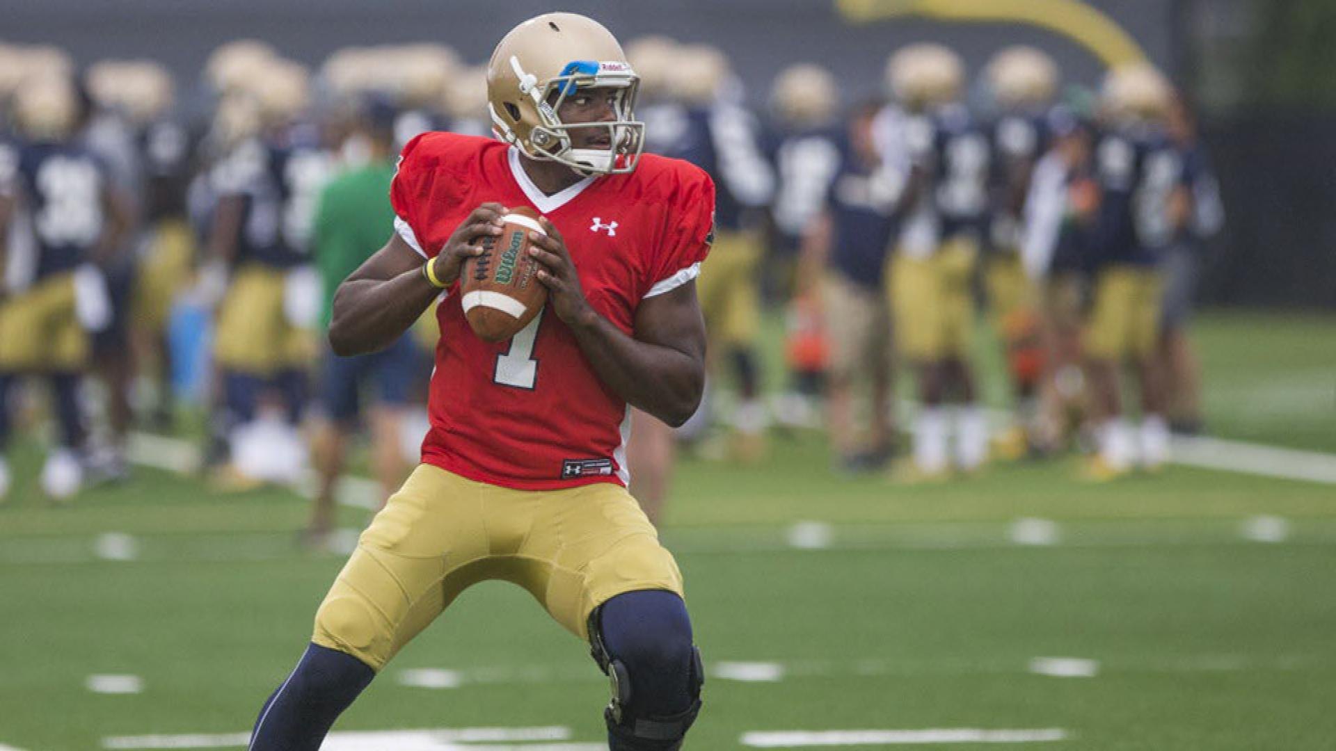 Notre Dame QB Brandon Wimbush ready for hefty task
