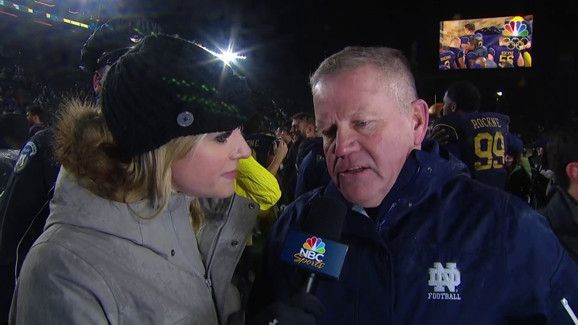 Brian Kelly Pleased Notre Dame Limited Navys Big Runs Nbc Sports Arlo Navy Women 39
