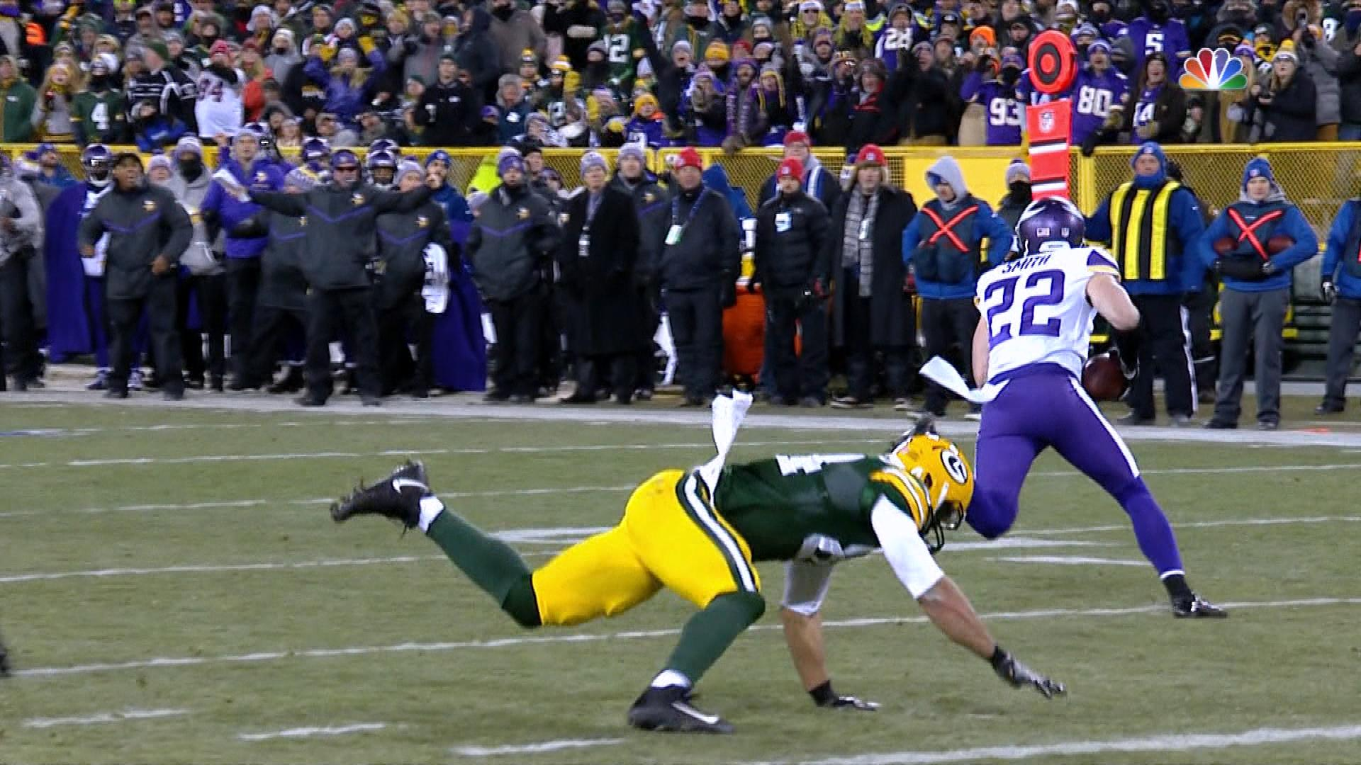 Vikings Harrison Smith Picks Off Packers Brett Hundley In The Red Zone Nbc Sports