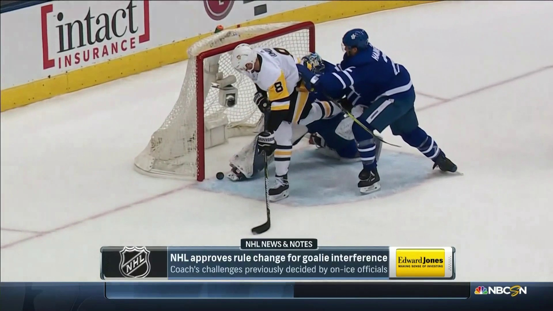Nhl Approves Goalie Interference Rule Change Effective Immediately