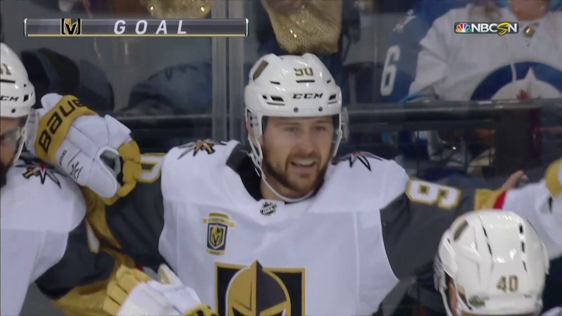Tomas Tatar sneaks puck past Connor Hellebuyck for Golden Knights lead  b373077cd