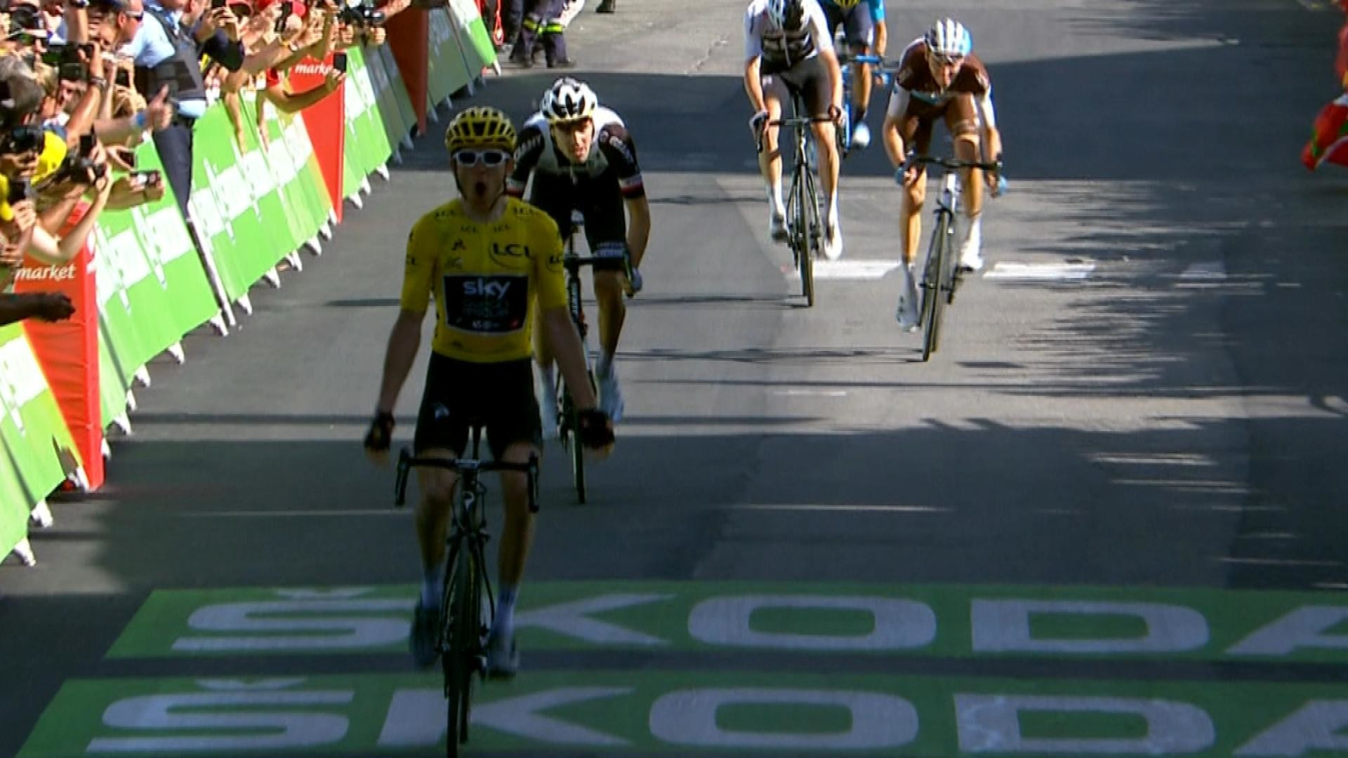 7cc2f8ce3 Tour de France  Geraint Thomas races to the finish line for Stage 12 win