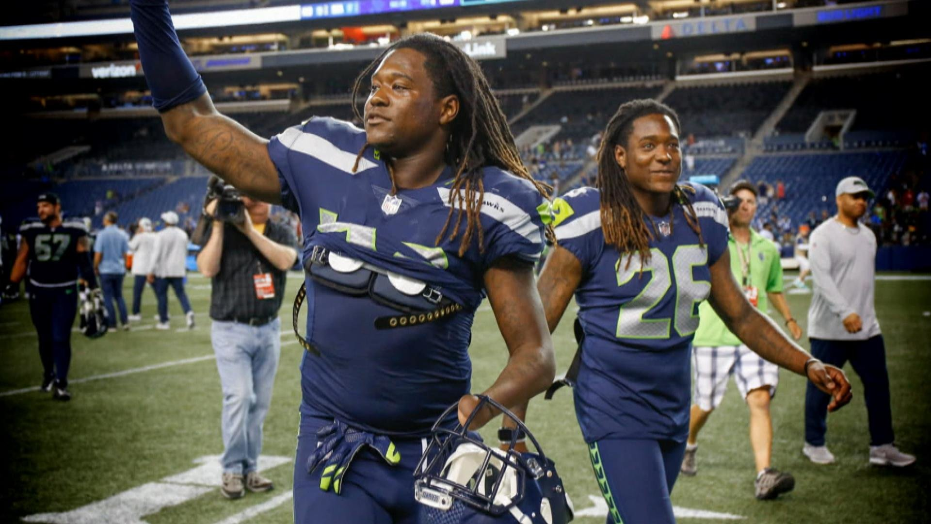57a1b49198b Shaquem, Shaquill Griffin make history with Seattle Seahawks | NBC Sports