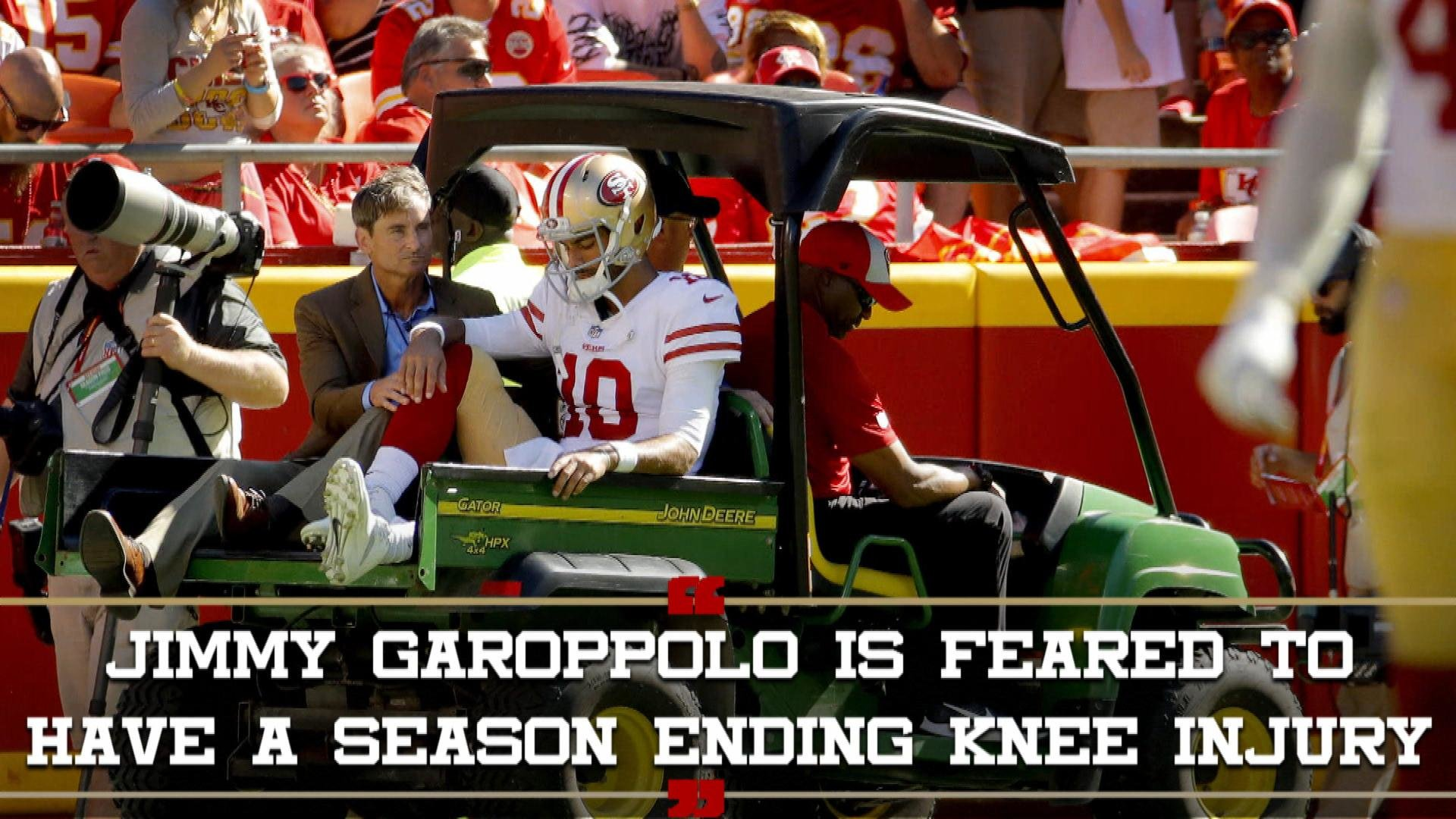 af7365ef San Francisco 49ers lose Jimmy Garoppolo to torn ACL   NBC Sports