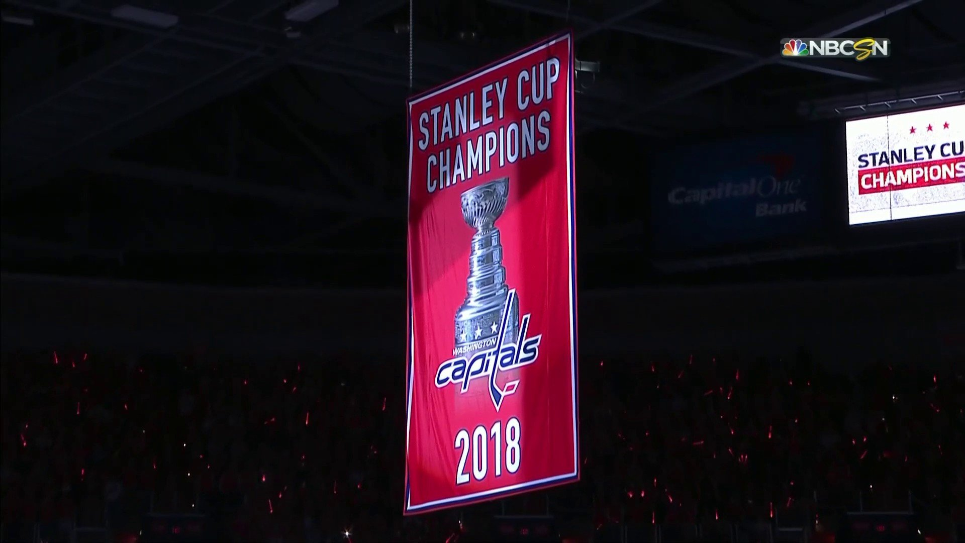 ad4c93213ad Washington Capitals raise Stanley Cup championship banner