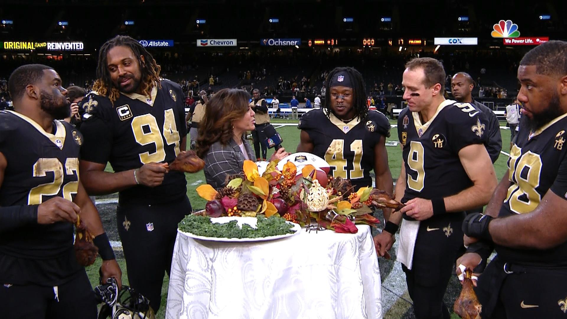 Image result for saints thanksgiving turkey