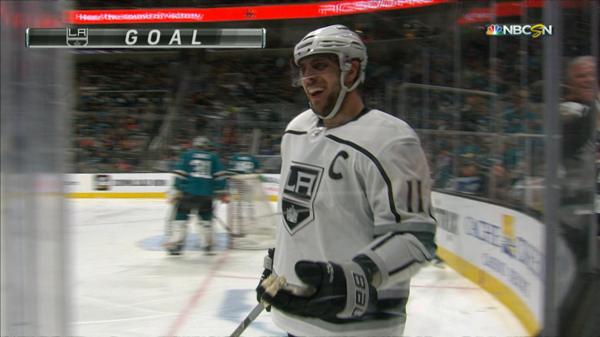ff7a5a4fe Anze Kopitar plays give-and-go with Dustin Brown for Los Angeles Kings goal