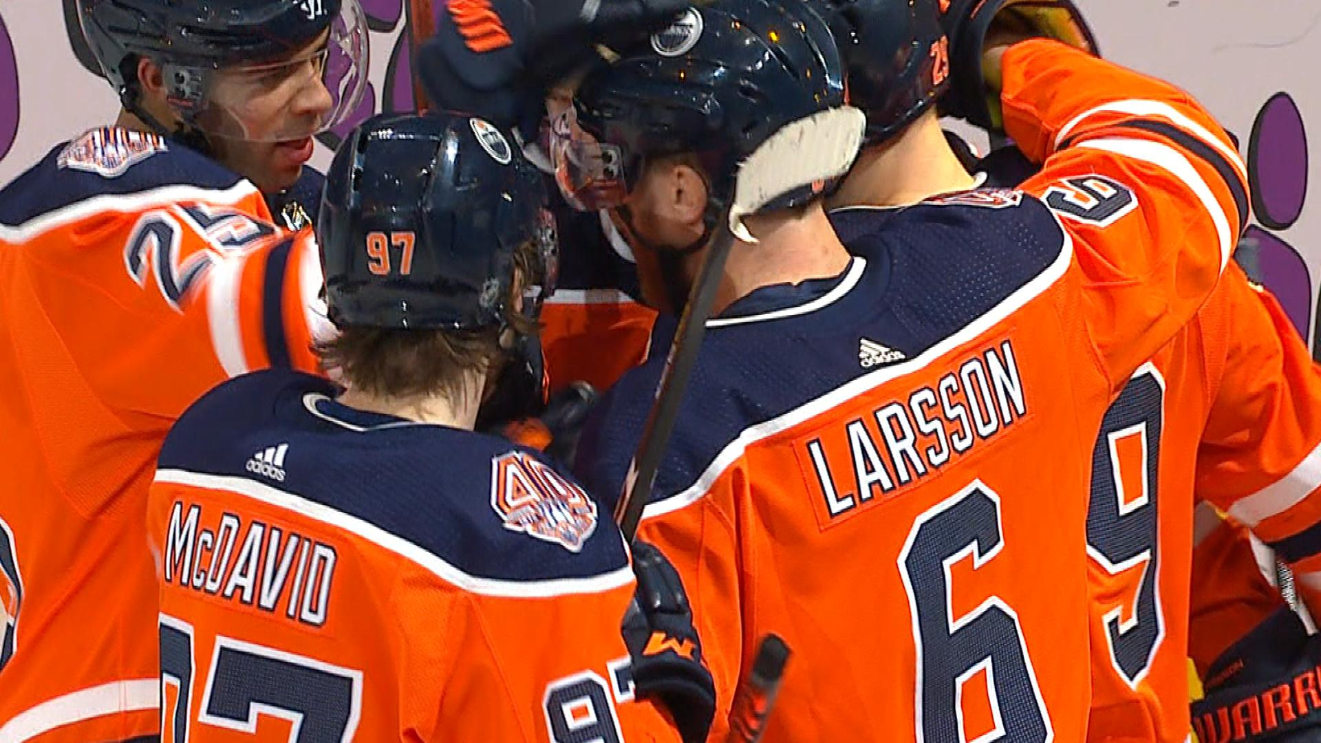 5b7abd0c6d5 Leon Draisaitl gets Oilers on the board vs. Red Wings