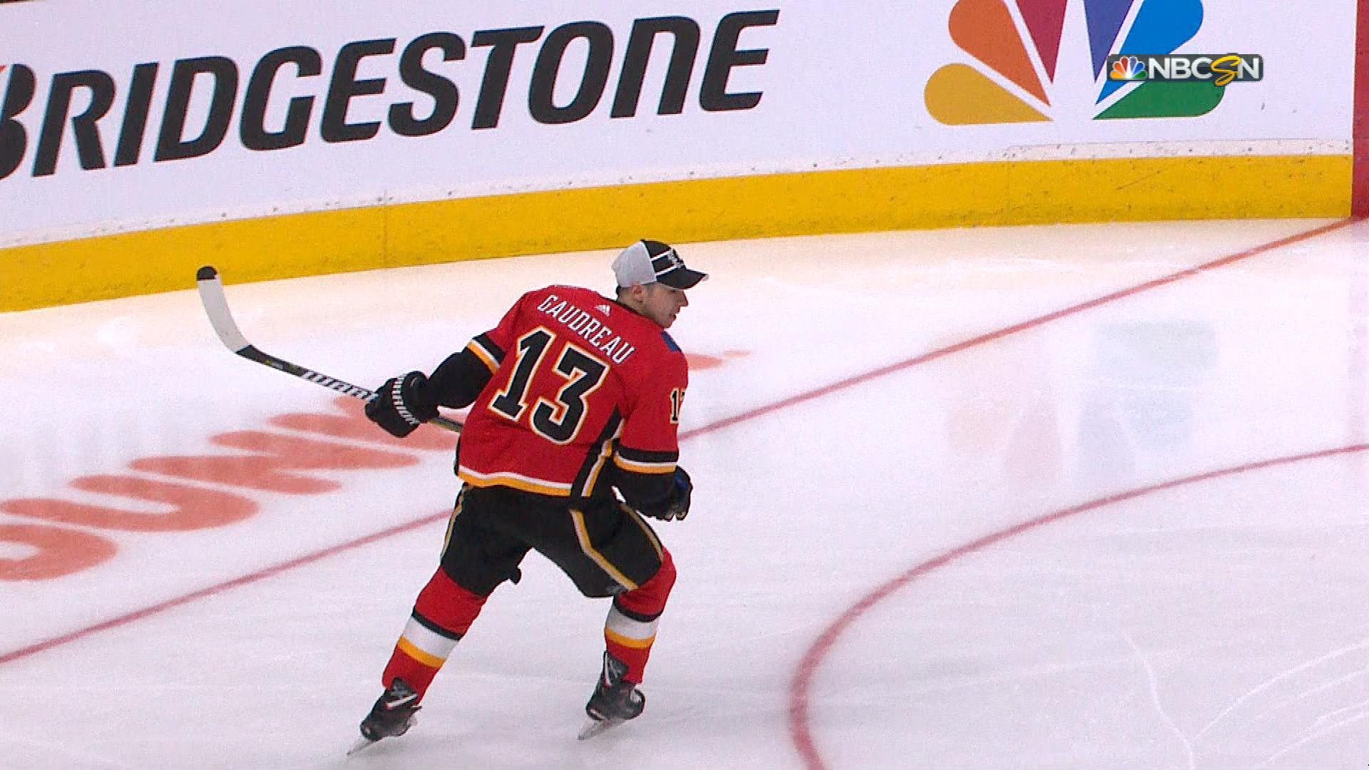 Calgary Flames  Johnny Gaudreau wins 2019 NHL Puck Control competition  641bc73c2
