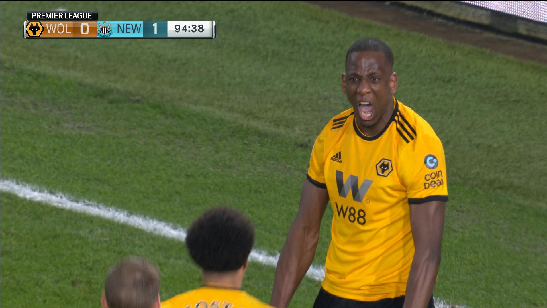 Wolves  Willy Boly scores last-second equalizer v. Newcastle  2fc5e80d1