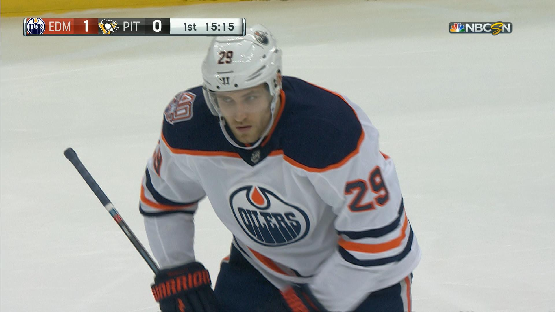 241062ef8d9 Oilers  Draisaitl scores quick off McDavid find for early lead vs Penguins