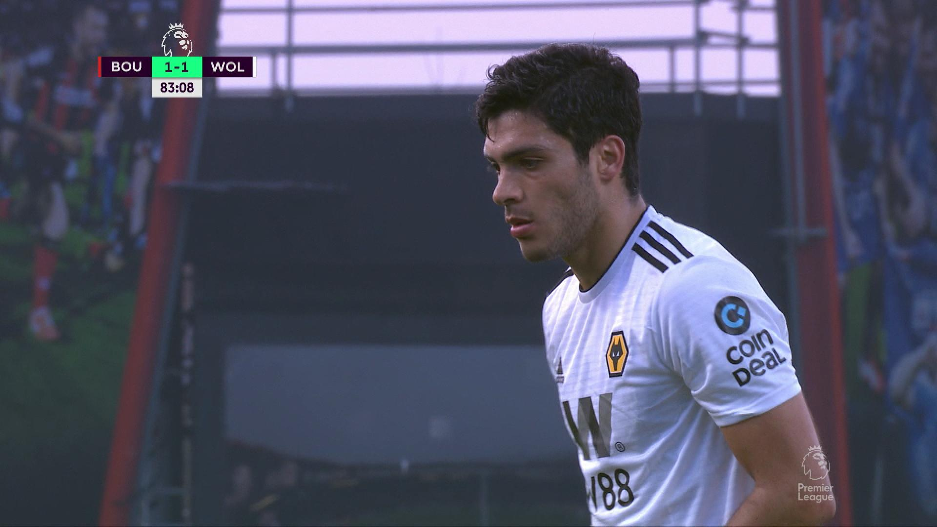 check out aabf2 f8a45 Wolves' Raul Jimenez scores penalty kick v. Bournemouth ...