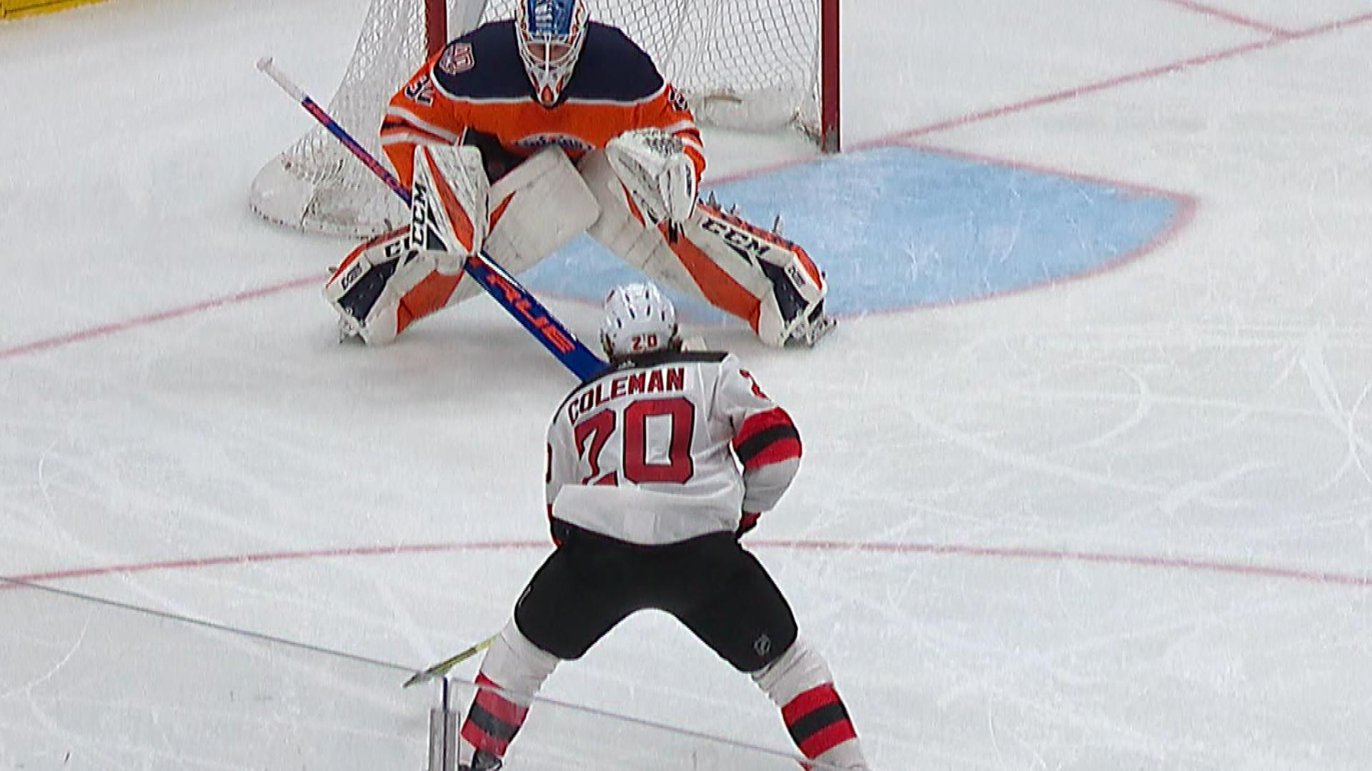 huge discount 2937b ac410 Blake Coleman seals game for Devils with third period goal ...