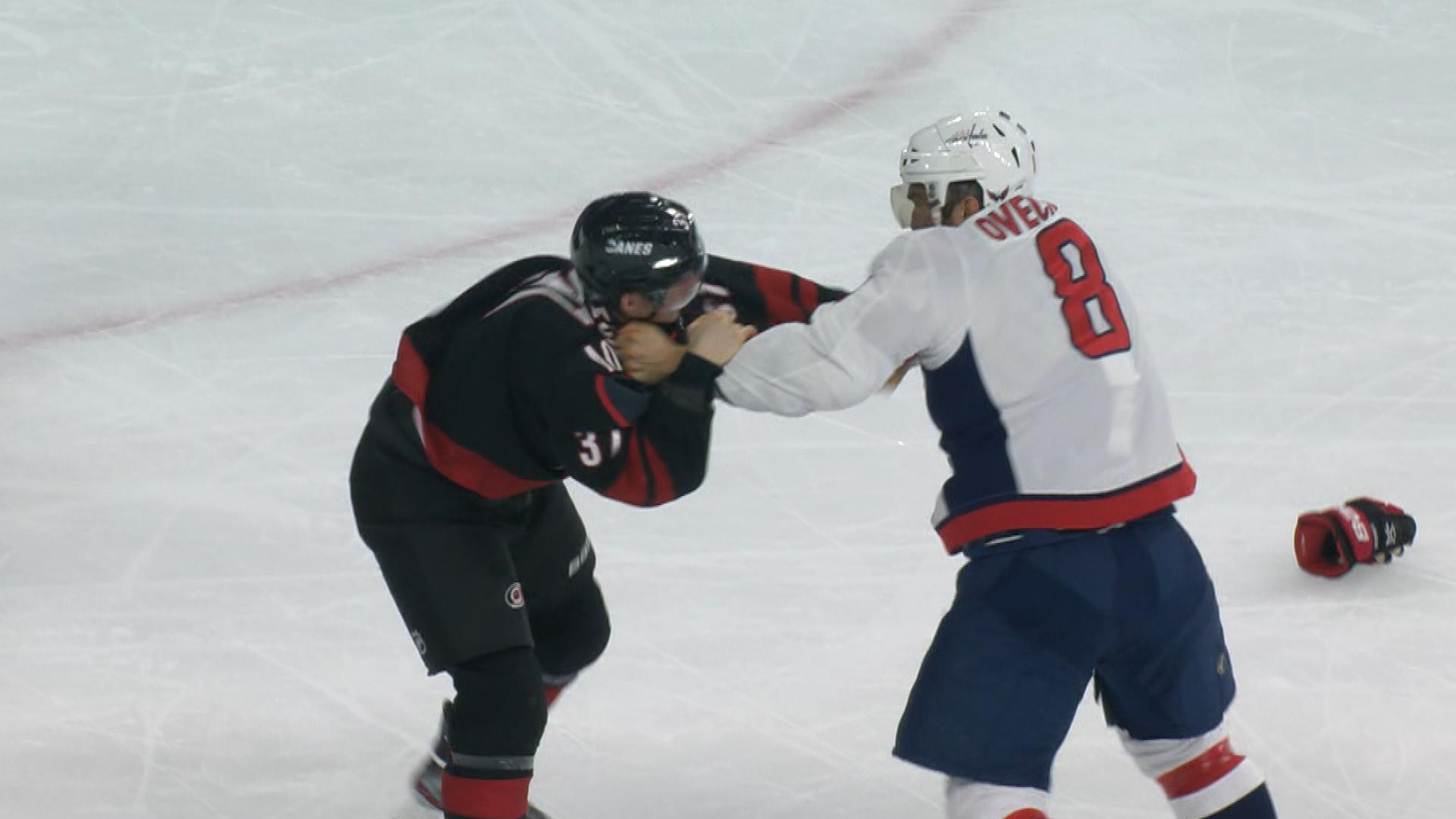 Capitals Alex Ovechkin knocks out Hurricanes' Andrei