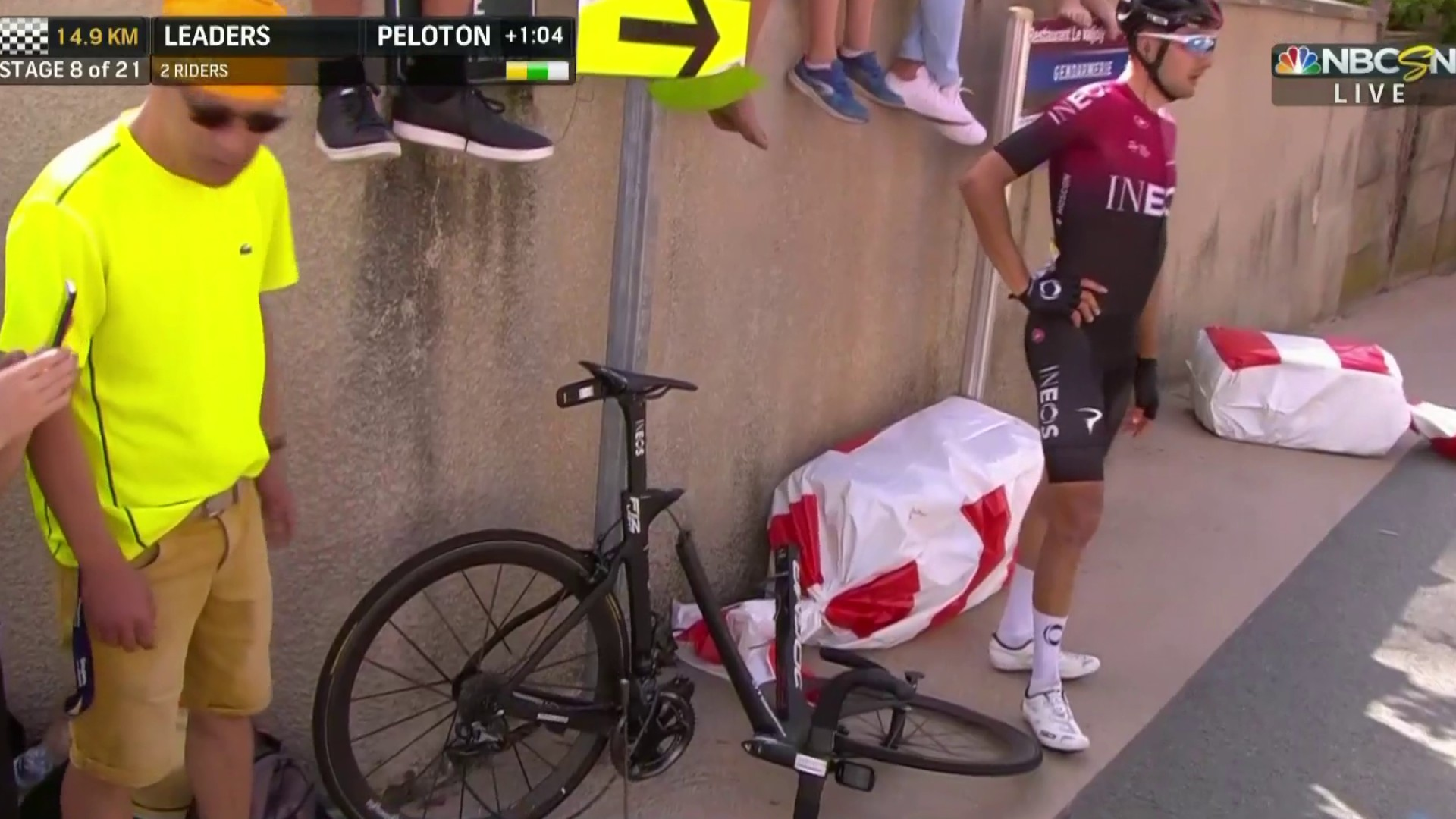 2019 Tour de France: Team INEOS crashes in Stage 8 | NBC Sports