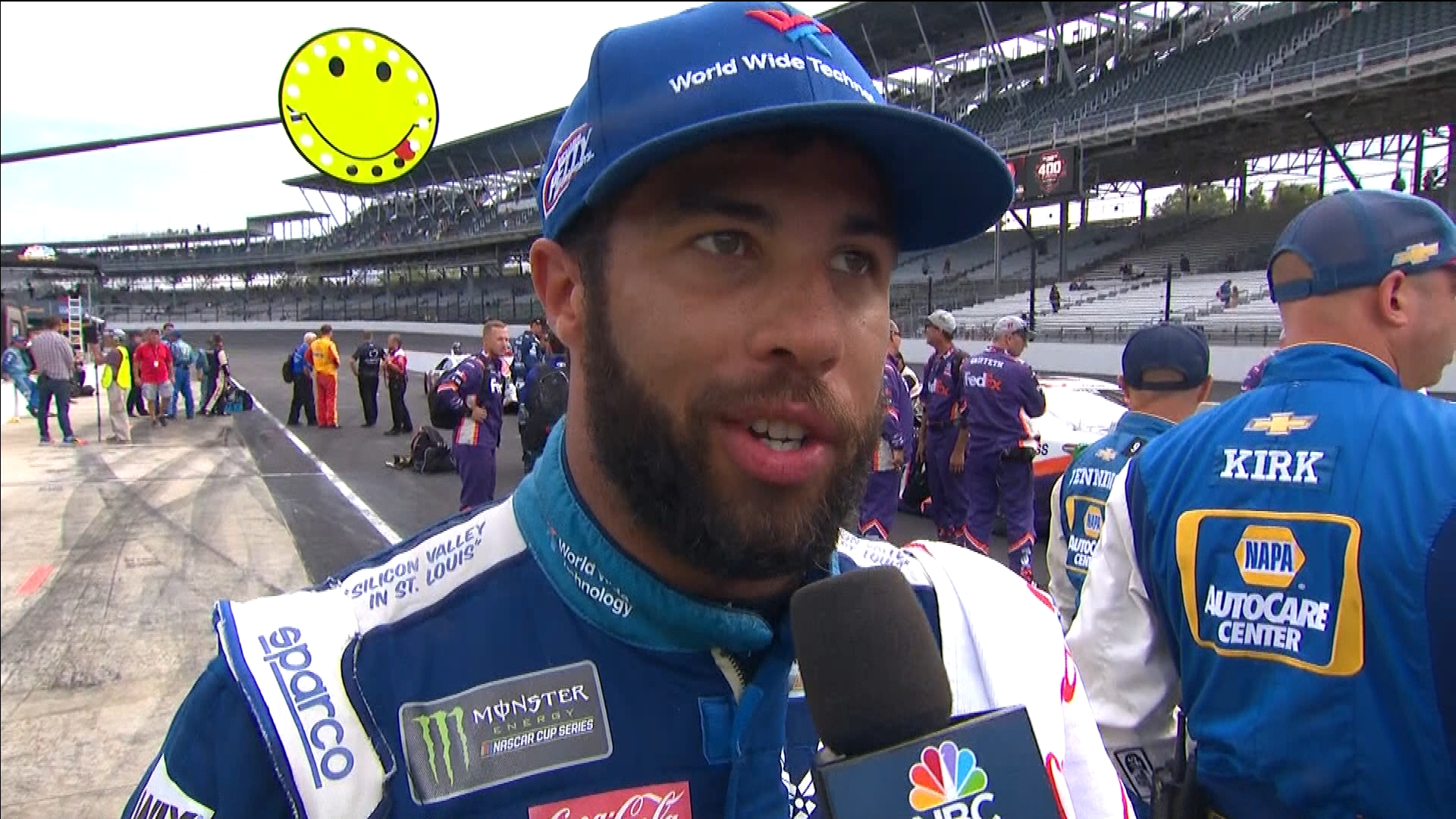 Bubba Wallace impresses with third-place finish in Brickyard