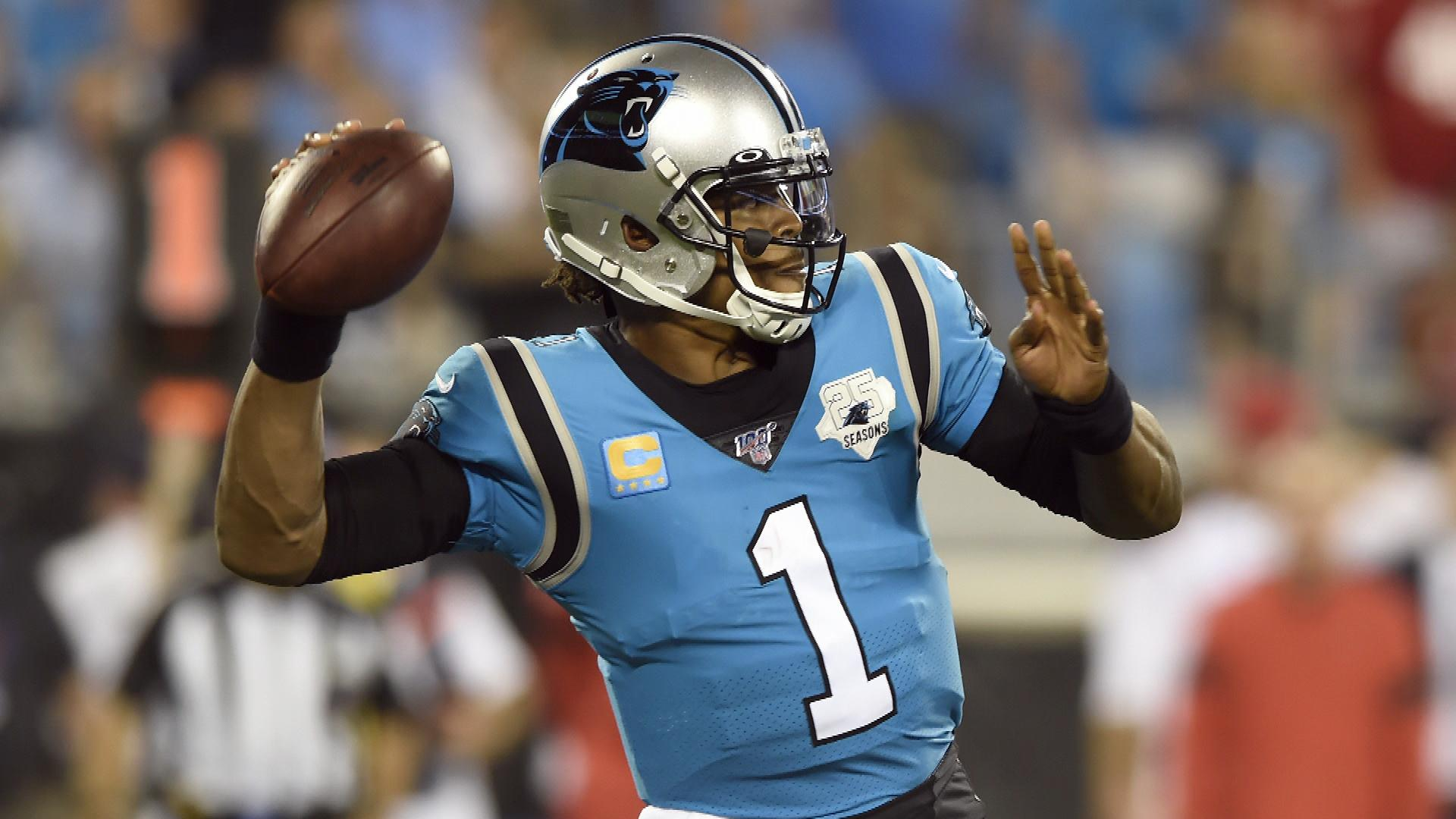info for f4334 67a06 Carolina Panthers QB Cam Newton questionable in Week 3   NBC ...