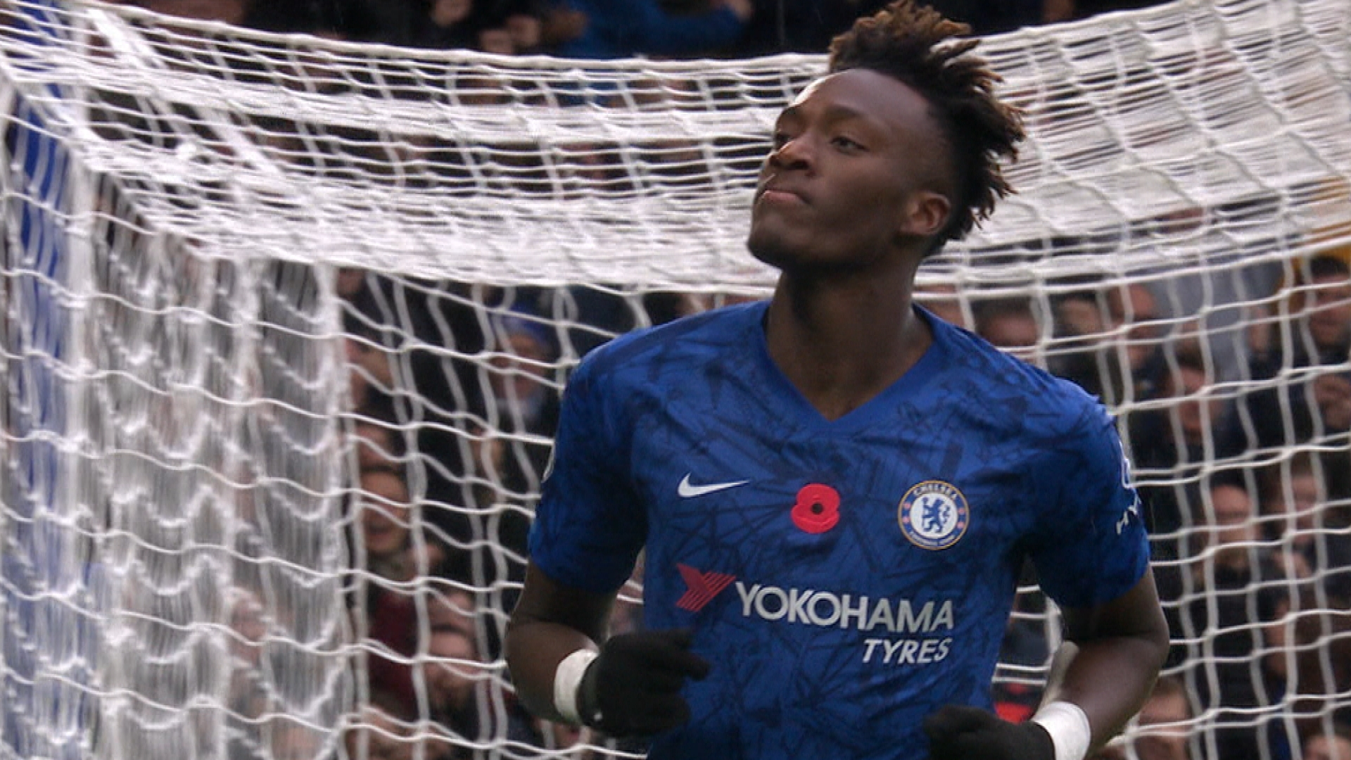 Tammy Abraham fires Chelsea ahead v. Crystal Palace