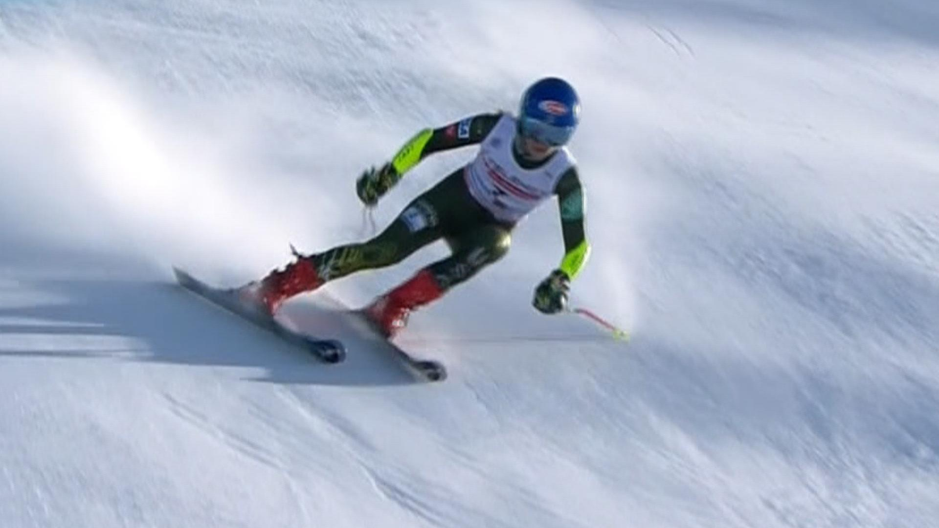Mikaela Shiffrin comes in third place in women's World Cup giant