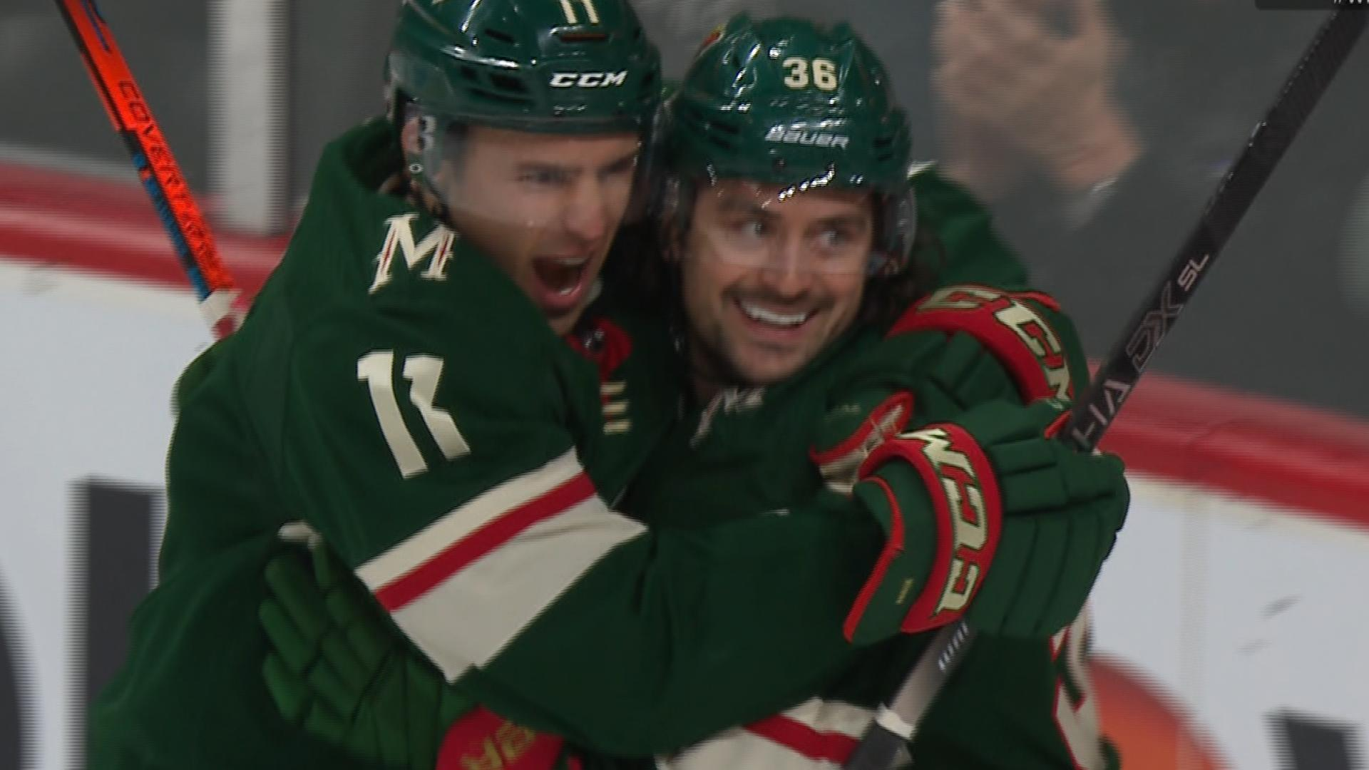 Mats Zuccarello and Jason Zucker score within minutes to give Wild