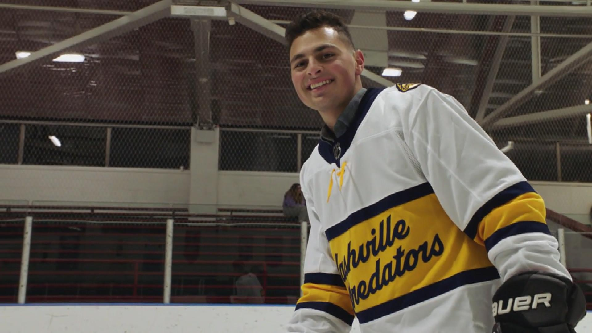 Hockey player Charlie Capalbo back on ice after bone marrow transplant