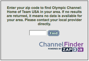 Olympic Channel Finder