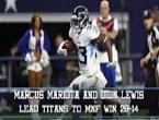 Dose: Titans Topple Dallas