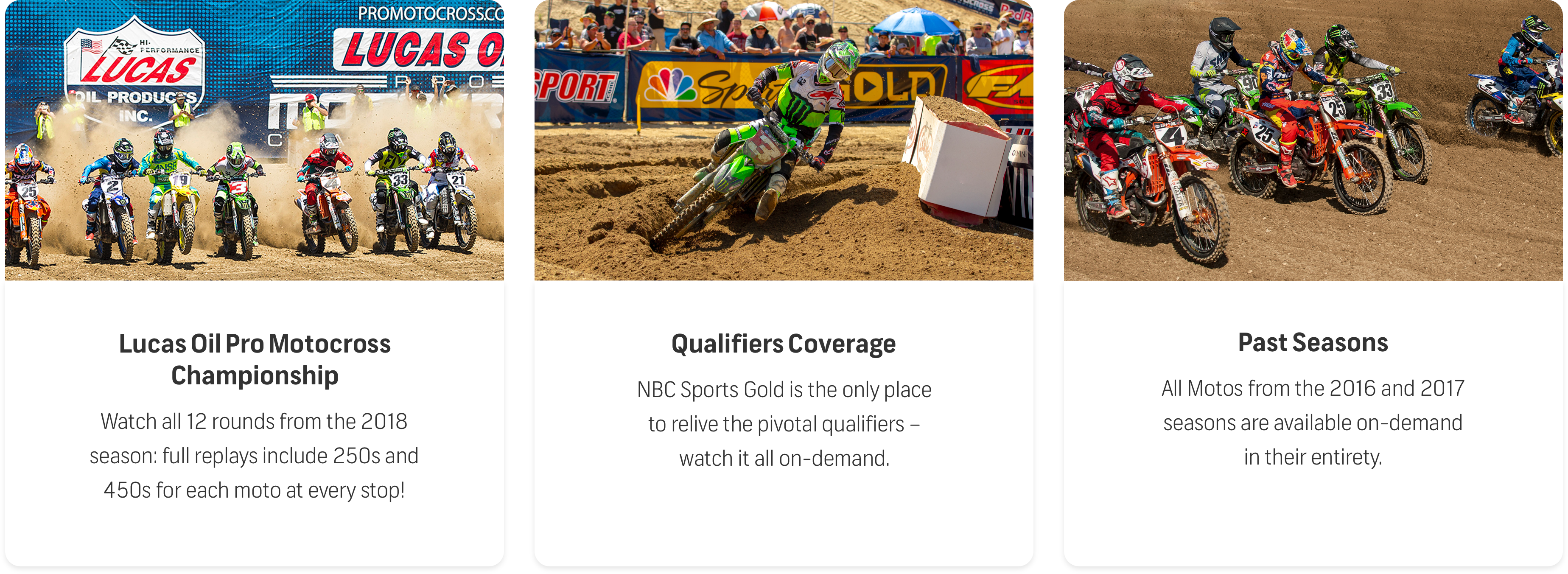 pro motocross what's included