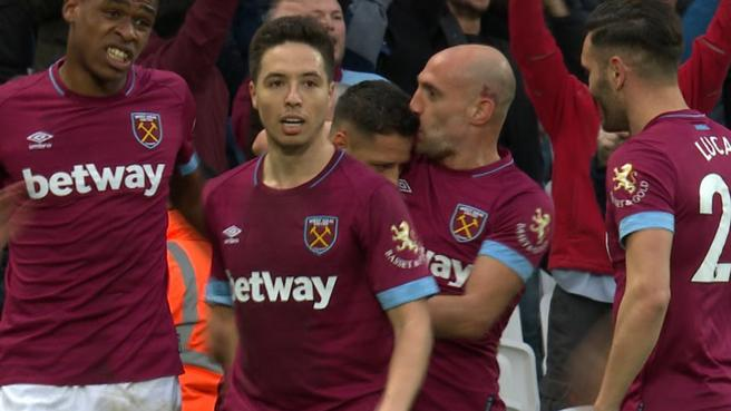 Javier Hernandez buries stoppage-time header to give West