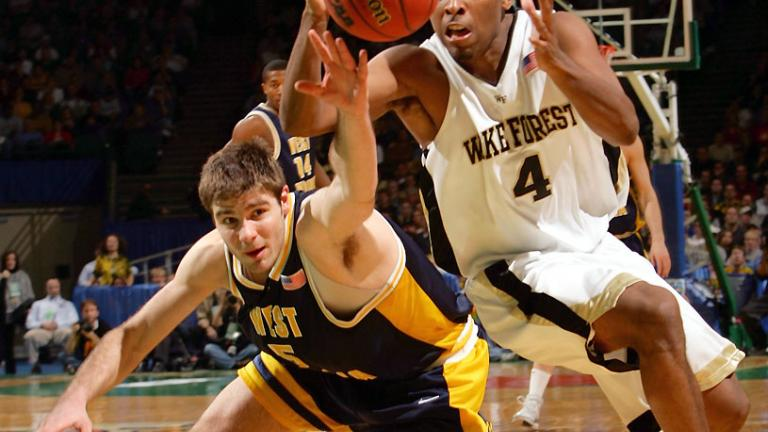 2005: West Virginia 111, Wake Forest 105