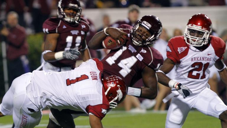 No. 13 Arkansas 38, No. 22 Mississippi State 31 (2OT)