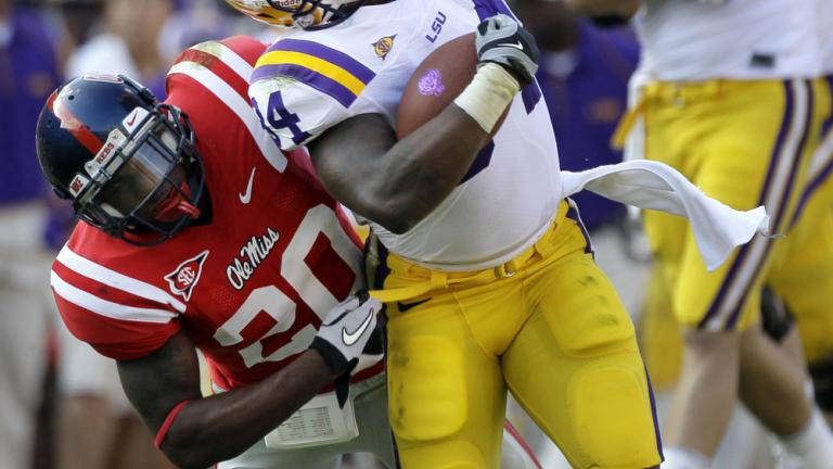 No. 5 LSU 43, Mississippi 36